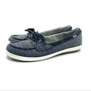 Keds Women's Black & Gray Boat Shoes